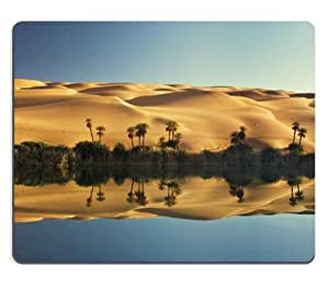 Lake Um El Ma Libya Scenery Mouse Pads Customized Made to Order Support Ready 9 7/8 Inch (250mm) X 7 7/8 Inch (200mm) X 1/16 Inch (2mm) High Quality Eco Friendly Cloth with Neoprene Rubber Luxlady Mouse Pad Desktop Mousepad Laptop Mousepads Comfortable Computer Mouse Mat Cute Gaming Mouse pad