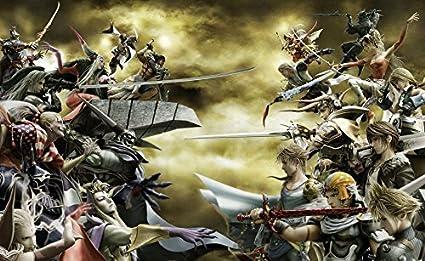 Silk Print Poster Dissidia Final Fantasy 734054 Silk Printing 23inch x 14inch // 57cm x 35cm