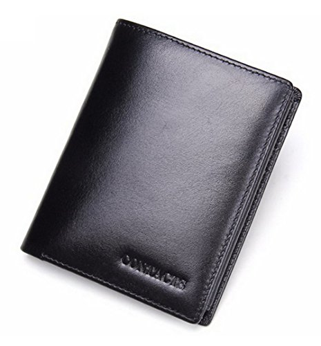 Edmen Men's RFID Blocking Genuine Cowhide Leather Big Capaci