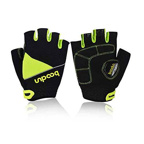 Od-sports Road Bike Gloves Breathable Riding Half Finger Mountain Bicycle MTB Cycling Gloves For Unisex Sports Gloves (Green, - Sale Anaconda Yellow Uk For