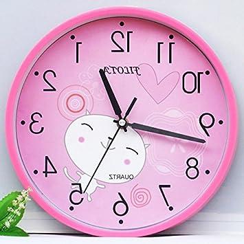 Amazon.com: Y-Hui Children Are Silent Wall Clock Living Room Bedroom ...