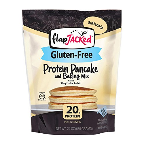 FlapJacked Gluten-Free Protein Pancake & Baking Mix, Buttermilk, 24oz