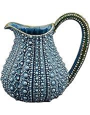 "Blue Sky Ceramic Urchin Pitcher, 10"" x 7.5"" x 9"", Blue"