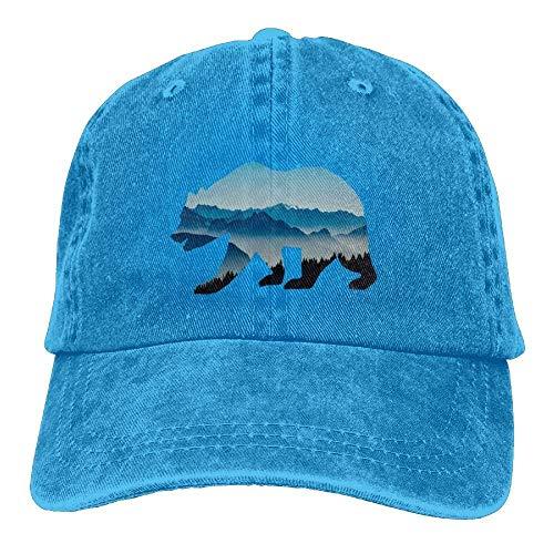 Hat béisbol Denim Fitted Bears Mountains Gorras Baseball Adjustable Hats Polar ruishandianqi Y6RxBqF