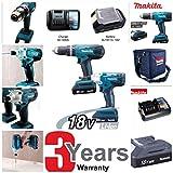 Makita DK18015X2 Cordless Hammer Drill and Impact Driver Combo Set by Makita