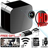 Phreilend Hidden Camera - 1080p HD - WiFi Remote View - Motion Detection - Charging Phones (Support 128GB Micro SD Card)