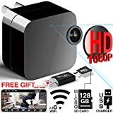 Hidden Camera - Spy Camera - WiFi Camera HD 1080P Remote View with APP - Can Charge Phones - Home Security Camera Motion Detection Indoor Camera with Micro SD Card Slot(Up to 128GB) by JOWTTE
