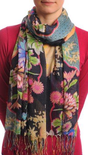 Turkish Flowers Tassels Black Blue product image