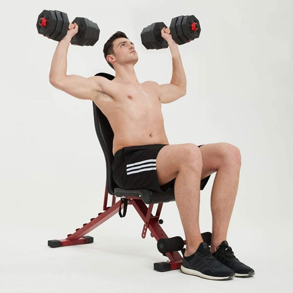 Multifunktions-Hantelb/änke Hantel Hocker Sit-Up Boards Sit-Ups Sport Fitnessger/äte Heim Multifunktionale Fitness-Stuhl Color : Black, Size : 106 * 32 * 42cm