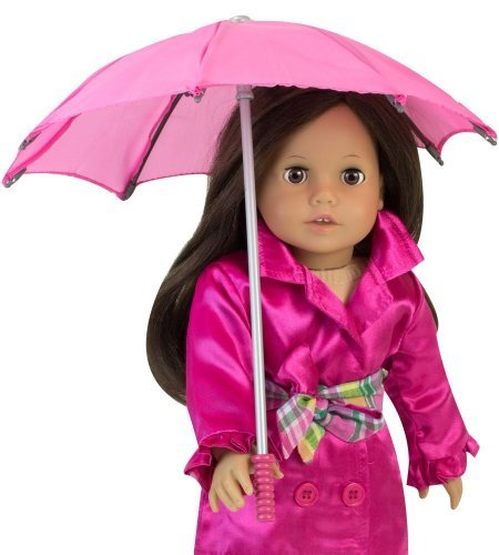 (Sophia's 18 Inch Doll Hot Pink Umbrella, Handle Loop, Open & Closes Perfect for 18 Inch American Girl Dolls & More!)