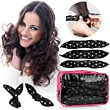 30pcs Hair Rollers - HailiCare Foam Hair Roller for Hair DIY - Flexible Soft Pillow Curlers - No Heat for Women & Kids (Black)