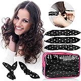 hair rollers for natural hair - 30pcs Hair Rollers - HailiCare Foam Hair Roller for Hair DIY - Flexible Soft Pillow Curlers - No Heat for Women & Kids (Black)