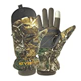 Hot Shot Men's Predator Pop-Top Mitten, Realtree Xtra, Large