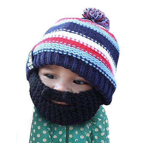 Beard Head - The Original Kid Gromm Knit Beard Hat (Black)