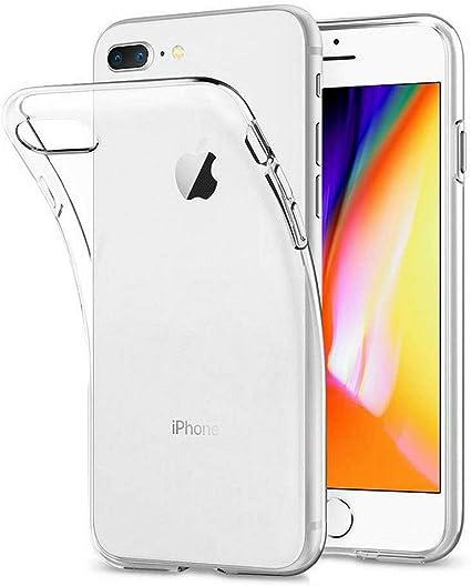 DOSMUNG Custodia per iPhone 8 Plus iPhone 7 Plus, TPU Silicone iPhone 8 Plus / 7 Plus Protettiva Case, Morbido Slim Cover [Anti-Graffio] ...