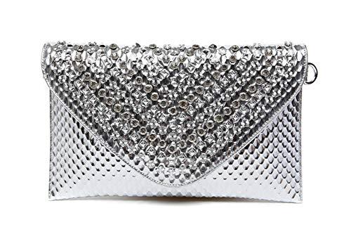 sera della da Borsa Donna diamanti Busta Oversize Tempestato clutch Elegante di da Sera C C Borsette sera 12x7inch Ornamento casa Partito Borsa 31x19cm Ballo qtq7w8E