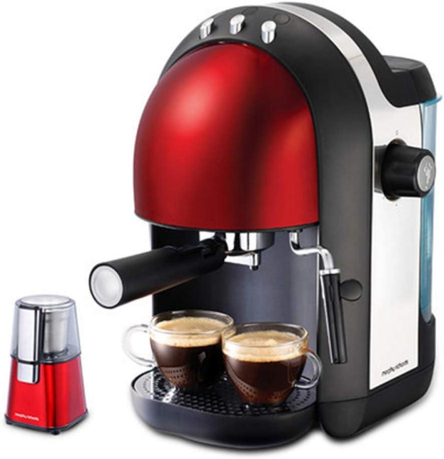 SYSWJ Cafetera La Cafetera De Café En Polvo De Café Instantáneo Pequeña Semiautomática Se Puede Usar Para Hacer Espuma De Leche, Rojo: Amazon.es: Hogar