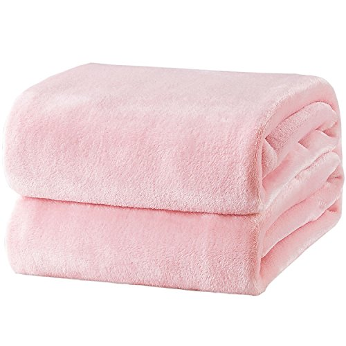 Bedsure Fleece Blanket Twin Size Pink Lightweight Throw Blanket Super Soft Cozy Microfiber Blanket