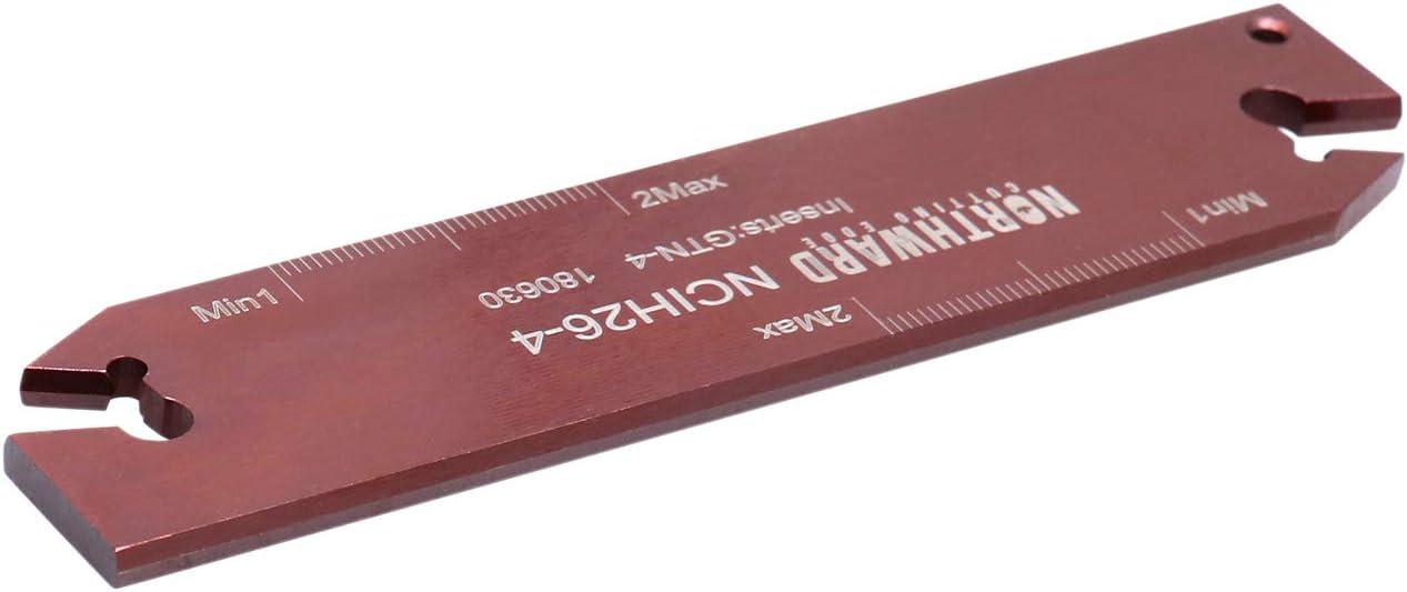 Accusize Industrial Tools 0.120 by 4.33 Ncih26-3 Positive Stop Adjustable Blade for Self Lock Cutoff Insert Gtn-3 2402-0006