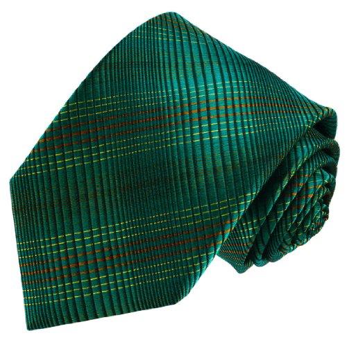 LORENZO CANA - Luxury Italian 100% Pure Silk Tie Green Black Necktie - ()