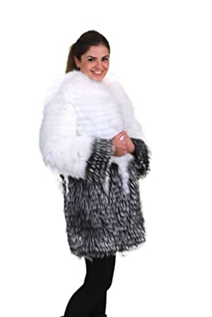 Silver fox with Crystal Fox Fur Coat (small)  sc 1 st  Amazon.com & Silver fox with Crystal Fox Fur Coat at Amazon Womenu0027s Coats Shop