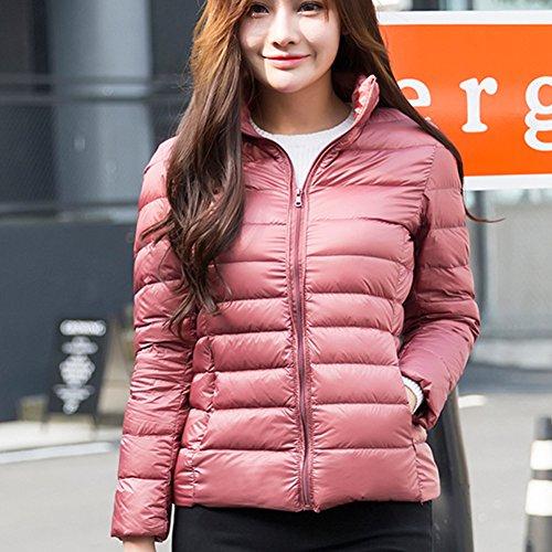 Down Women Ultra Pink Duck Dark Regular Stand Jacket Portable Collar Jacket Winter Weight New yuxin Down 7UWgawq