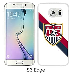 Popular Samsung Galaxy S6 Edge Case ,Unique And Lovely Designed With USA Soccer 28 White Samsung Galaxy S6 Edge High Quality Cover