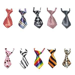 GOGO - Corbatas para perro o gato, varios colores, 10piezas/paquete
