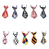 GOGO Cat Dog Ties for Holiday Festival Dog Collar Pet Neckties, 10 Pcs/Pack