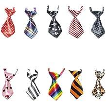 10 Pcs/Pack GOGO Dog Cat Neckties, Dog Collar Assorted