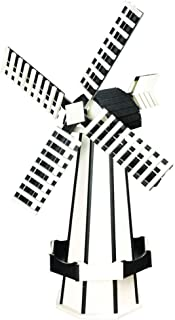 product image for DutchCrafters Decorative Poly Two-Tone Windmill (Large, White/Black)