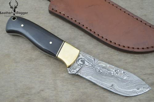 Leather-n-Dagger Professional Custom Handmade Damascus Steel Hunting Knife Great Gift LD166