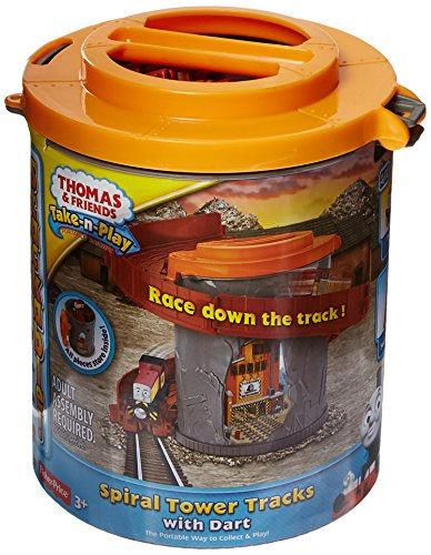 Fisher-Price-Thomas-Friends-Take-n-Play-Spiral-Tower-Tracks-with-Dart