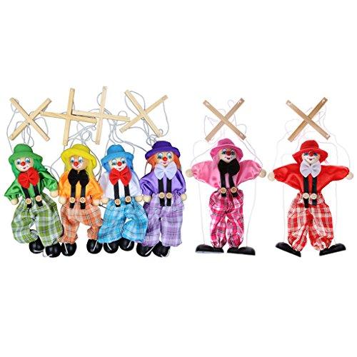 [해외]Tebatu Pull String Puppet Toy Clown Wooden Marionette Toy for Kids Birthdays Gift Random delivery / Tebatu Pull String Puppet Toy, Clown Wooden Marionette Toy for Kids Birthdays Gift Random delivery