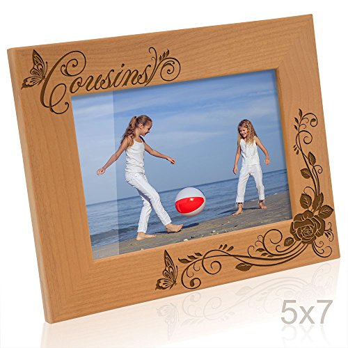 Kate Posh - Cousins Picture Frame (5x7 Horizontal) (I Love My Cousin Picture Frame)