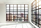 Yeele 10x8ft Skyscraper Window Backdrop Office Building French Window Transparent Glass Window City Landscape Photography Background Man Adult Portrait Photo Shooting Vinyl Wallpaper Studio Props