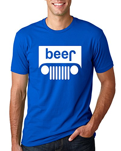 Wild Bobby Beer Logo   Cars and Trucks Parody Humor Alcohol   Mens Drinking Tee Graphic T-Shirt, Royal White, Small