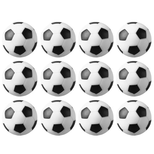 L&LH Foosballs Replacements Mini Table Soccer Balls 12 Packs for Your Foosball Table(Black and White, 36mm)