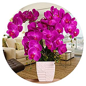 Orchid Artificial Flowers DIY Artificial Butterfly Orchid Silk Flower Bouquet Phalaenopsis Wedding Home Decoration 61