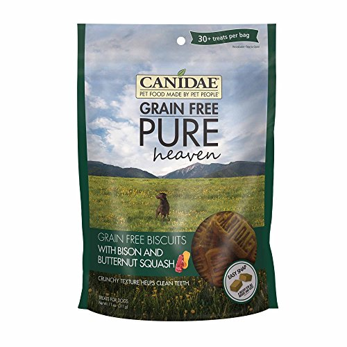 CANIDAE 2325 Grain Free PURE Heaven Dog Biscuits with Bison & Butternut Squash, 11 oz.