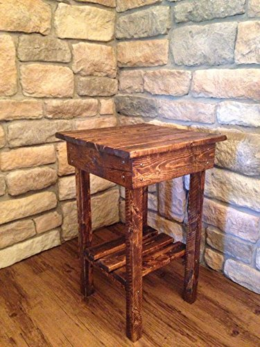 Rustic End Table/Night Stand/Bed Side Table/Rustic Table/ Aged/Side Table/Vintage/Wood//Handmade/Custom/New Materials…