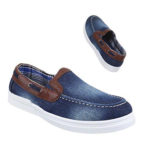 Ital Azul azul Zapatos Design Hombre wzPZO6nw