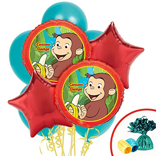 Curious George Party Supplies Balloon Bouquet