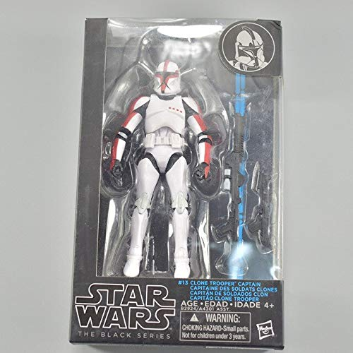 (HOLLUK The Black Series Stormtrooper Phasma Maul Hab Solo PVC Action Figure Toy 14 Types with Box -Multicolor Complete Series Merchandise)