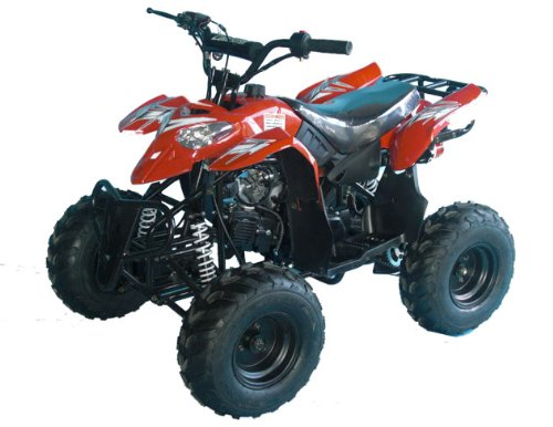 110cc Four Wheelers 7'' Tires Atvs, Red