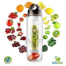 Fruit Infuser Water Bottle, MECO 24 oz Sports & Fitness Bottle - BPA-Free, Enjoy Delicious Fruit Infused Beverages