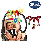 Fstop Labs 2 Pack Spiral Activity Toy, Activity Spiral Plush Toys Stroller, Travel Activity Toy (Insect & Bee Shape)