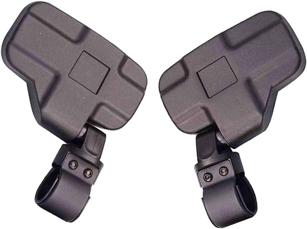 GOOFIT R/étroviseur Moto Poign/ées 50mm 44mm Universel avec Support de 2 Pi/èces pour UTV Polaris RZR XP1000 XP1K Turbo Noir