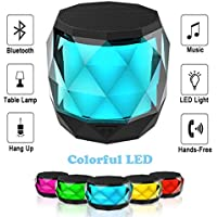 LED Bluetooth Speaker,LFS Night Light Wireless...