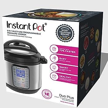 Instant Pot Duo Plus 60, 6 Qt 9-in-1 Multi- Use Programmable Pressure Cooker, Slow Cooker, Rice Cooker, Yogurt Maker, Egg Cooker, Sauté, Steamer, Warmer, & Sterilizer 5